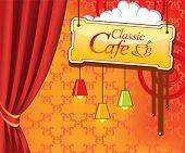 Vector cafe menu design