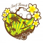 Vertor Surf Beach illustration