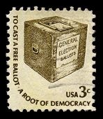 USA - CIRCA 1930: A stamp printed in USA shows image of the dedicated to the General Election Ballots circa 1930.
