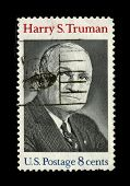 USA - CIRCA 1980: A stamp printed in USA shows image portrait Harry S. Truman (May 8, 1884 - Decembe