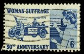 USA - CIRCA 1970: A stamp printed in USA shows image of the dedicated to the Woman Suffrage circa 19