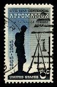 USA - CIRCA 1965: A stamp printed in USA shows image of the dedicated to the Civil War Centennial 1865-1965 circa 1965.