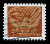 USA - CIRCA 2002: A stamp dedicated to the E pluribus unum, Latin for