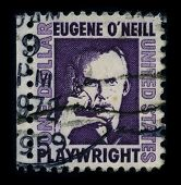 USA-CIRCA 1959: A stamp printed in USA shows portrait Eugene Gladstone O'Neill (16 October 1888 - 27
