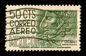 MEXICO - CIRCA 1980:A stamp printed in MEXICO shows image of The Inca Empire, or Inka Empire (Quechua: Tawantinsuyu), was the largest empire in pre-Columbian America, circa 1980.