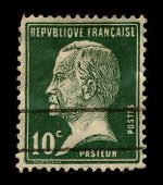 FRANCE-CIRCA 1940:A stamp printed in FRANCE shows image of Louis Pasteur (December 27, 1822 - Septem