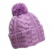 stock photo of pon  - violet woolen knit hat - JPG