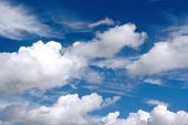 Beautiful White Fluffy Clouds poster