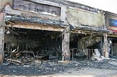 A Fire Destroyed Five Stores