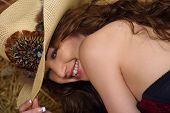 Girl In Western Hat
