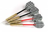 Four Black And Red Darts