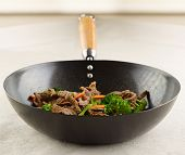 pic of stir fry  - view of stir fry in a wok - JPG