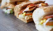 Fast Food Restaurant Sandwiches & Salad Menu poster