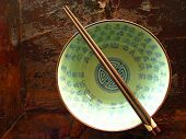 Chinese bowl with chopstick