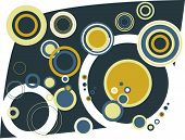 Retro vector rings with various harmonious color combination. poster
