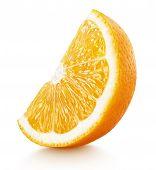 Wedge Of Orange Citrus Fruit Isolated On White poster
