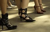 picture of streetwalkers  - sexy shoes focus point on center of photo - JPG