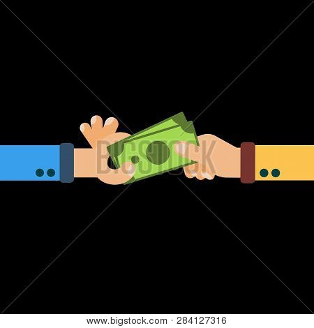 Hands Hold Cash Money Financial
