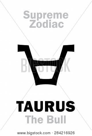 Astrology Alphabet Taurus the Bull