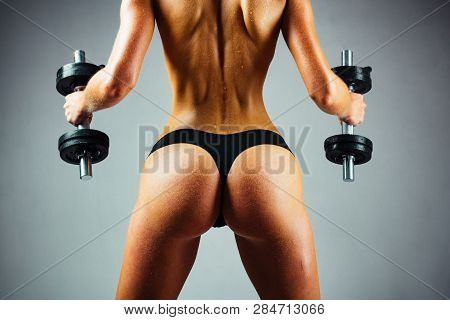 poster of Buttocks Fit, Woman Butt. Female Fitness Model. Healthy Woman Doing Workout. Fitness Woman