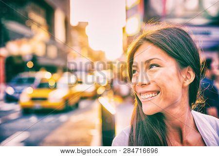 Happy people New York city
