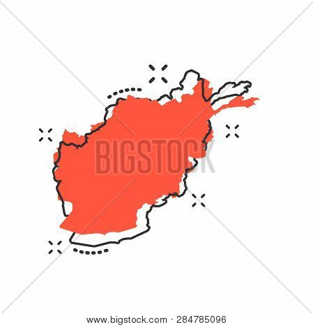 Vector Cartoon Afghanistan Map Icon