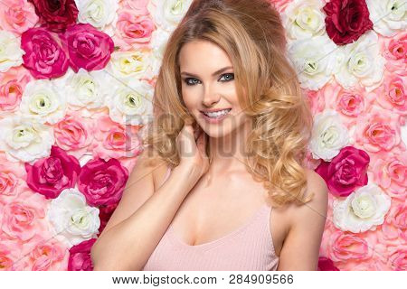 Beauty Happy Model Girl With