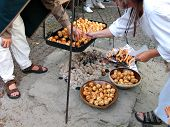 Medieval Style Outdoors Cooking poster