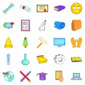 Researcher Icons Set. Cartoon Set Of 25 Researcher Icons For Web Isolated On White Background poster