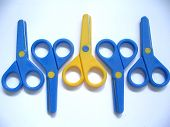 Odd One Out (yellow Scissors) poster