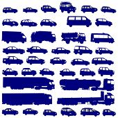 vehicle shapes vector