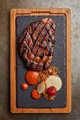 Juicy t bone steak poster