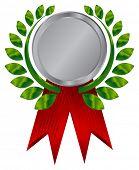 Silver award ribbons