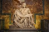 One of Michelangelo's most famous works: Pieta in St. Peter's Basilica in Vatican