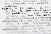 pic of pronunciation  - Shallow DOF focus on Editor in English Dictionary - JPG