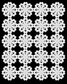 White Snow Flowers Repeat Sheet