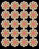 Neon Flowers Repeat Pattern