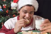 Eating Santa's Cookes