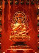 stock photo of worship  - buddha in chinese temple shown a spiritual of buddhist - JPG
