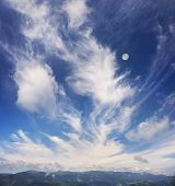 Cirrus Clouds In Europe poster