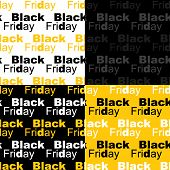 Cute Set Of Black Friday Sale Seamless Patterns In Contrast Colors poster