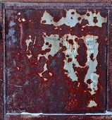 Dark Red Surface Corroded. Texture