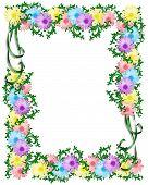 Daisy Chain Floral Border