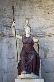 foto of porphyry  - Statue of the goddess Roma in Capitoline Square of Rome Italy - JPG