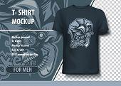 Joker Player Skull .t-shirt Mock Up Template poster