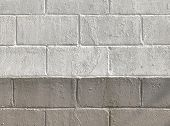 Old Weathered Color Dirty Cement Brick Block Wall Texture Surface Background. poster