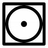 Tumble Dry Low Temperature Icon. Outline Tumble Dry Low Temperature Vector Icon For Web Design Isola poster
