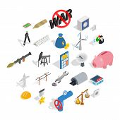 Financing Icons Set. Isometric Set Of 25 Financing Vector Icons For Web Isolated On White Background poster
