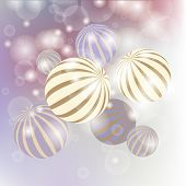 Abstract  Golden 3d Spheres Set.  Design For Greeting Card, Banner, Placard Or Poster. Decoration El poster