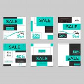 Social Media Banner For Brochure Design. Trendy Vector Illustration. Social Network Photo Frame. Vec poster